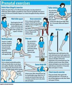 Prenatal Exercises #exercise #workout  #pregnancy #health