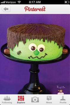 Audrey and I are committed to making this cake. AC