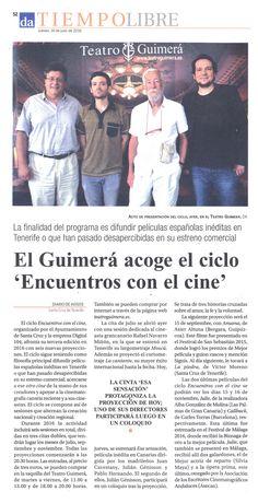 'Encuentros con el cine' en el Diario de Avisos'. 14/07/2016