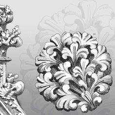 extract from the book Treasury of Baroque and Rococo Designs from Dover Publications #book #design #rococo #baroque
