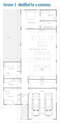 House Floor Plan Modern House Plan to Modern Family. Cottage House Plans, Craftsman House Plans, Bedroom House Plans, Country House Plans, New House Plans, Small House Plans, House Floor Plans, The Plan, How To Plan