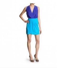 NWT $194 Amanda Uprichard Dress - Color Block size Large L turquoise cobalt blue from Passion84Fashion's Closet, $95