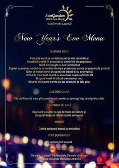 Revelion 2015: SunGarden Golf & Spa Resort New Years Eve Menu, Resort Spa, Golf, Dining, Dinner, Meal, Wave, Turtleneck