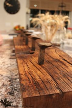 how to make railroad spike coat rack