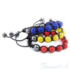 3 Shamballa Armbander in 3 Farben  - http://bramel.ch/accessoires-shop/armband/3-shamballa-armband-in-3-farben-rot-blau-und-gleb/ http://bramel.ch/wp-content/uploads/2013/09/Shamballa-Armband-rot-blau-gelb-600x600.jpg