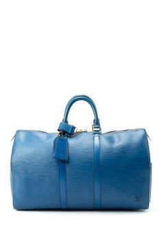 Vintage Louis Vuitton Leather Keepall 45 Duffle