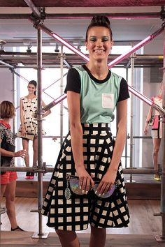 Kate Spade New York Spring 2013 via @whatiwore by What I Wore - the oversized check was my favorite fabric! I'll take it in the skirt, pants, dress and coat!!!