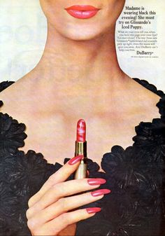 Du Barry 'Glissando' Lipstick & Nail Enamel Ad, 1966