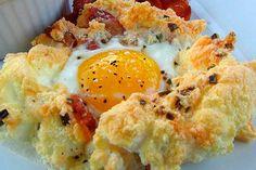 ¡Algo diferente! Mira estos huevos en las nubes al horno