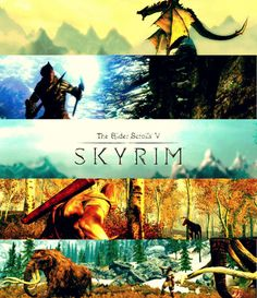 Gorgeous Skyrim Poster.