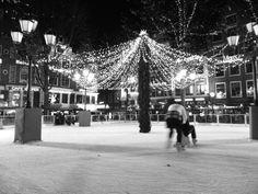 ice skating in leidseplein - amsterdam