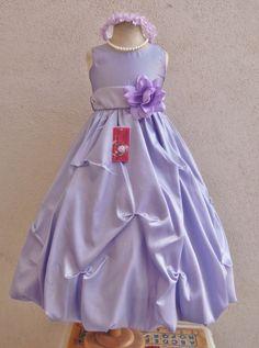 Lilac/Iris/Light purple recital pageant wedding party prom flower girl dress #Mykidstudio #DressyEverydayHolidayPageant