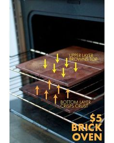 Use inexpensive, unglazed tile to turn your oven into a brick oven pizza oven