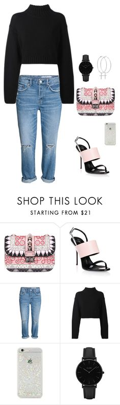 """delight always"" by minee1997 ❤ liked on Polyvore featuring Valentino, Giuseppe Zanotti, DKNY, ban.do, CLUSE and Kiki Minchin"
