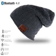 Christmas Gift Wireless Bluetooth Music Hat Cap Beanie With Hands Free Call (Multiple Design) Bluetooth, Wireless Headphones, Software, Stereo Speakers, New Year Gifts, Beanie Hats, Knitted Hats, Free, Knitting