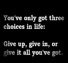 One choice only!