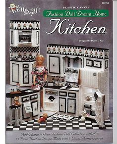Barbie Kitchen Made Of Plastic Canvas