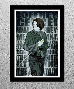 Arya Stark's Hit List - Game of Thrones - HBO - Original Minimalist Art Poster Print. Arya Stark's Hit List - Game of Thrones - Needle the Sword Your choice of 13x19 or 20x30 All prints signed by the artist. Posters printed on high quality Photo Paper with premium quality inks. The posters are mailed rolled in high-quality tough tubes and cover sheet.