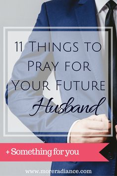 Never thought of praying for my future husband as opposed to my current boyfriend. Cool!