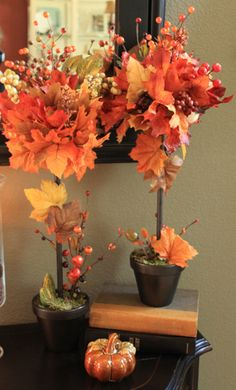 DIY Fall Topiaries…A Michael's Knock Off | Decorchick! Changing her world, one project at a time