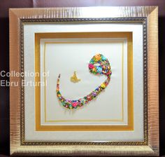 Ribbon Embroidery Calligraphy Jali Thulth Waw Letter by RainbowJus