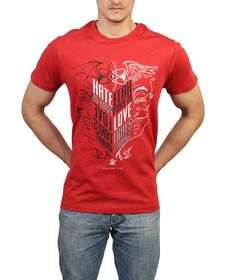 AZAD Men'S Short Sleeve Hate Is Easy, Love Takes Courage T-Shirt  Now on Amazon.com Price: 	$21.00