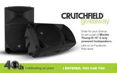 Enter to win Mackie Thump 15 speakers Best Powered Speakers, Online Sweepstakes, Consumer Electronics, Giveaway, October 14, Guitars, Thankful, Tech, Sweets
