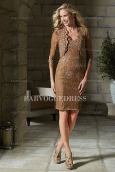 Sheath/Column Sweetheart Knee-length Lace Mother of the Bride Dress