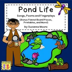 Frogs, turtles, ducks…your students will love diving right into these pond-themed songs, poems, and fingerplays!  Each rhyme is offered in color and black and white, along with bonus content, such as flannel board pieces, student manipulatives, and no-prep printables. Use these rhymes during circle time, during transitions, or as shared reading poems. Appropriate for use in Daycare, Preschool, Kindergarten, First and Second Grades and Homeschool.