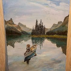 #nepraville #daxgraffiti #landscape #boat #hat #girl #lake #mountains #trees #reflections #sky #summer #beautiful #nature #art #artwork #canvas #artist #painting #deep #colorful #blue #sea #fairytale