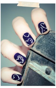 Here you will find some cool and easy Nail designs for short nails !Short nails are equally adorable , same as long nails. Short nails can be designed differently the way your whims dictate. Pretty Nail Designs, Simple Nail Art Designs, Short Nail Designs, Love Nails, How To Do Nails, Pretty Nails, Fun Nails, Color Nails, Easy Nails