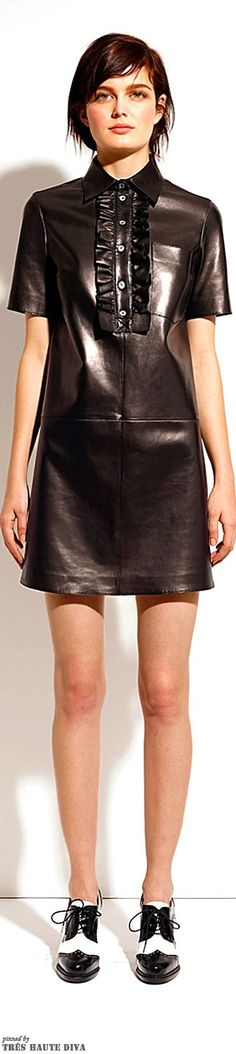 Michael Kors Pre-Fall 2014.... love the leather!  @Michael Kors