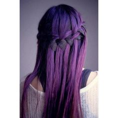 Purple Indie Scene Hair ❤ liked on Polyvore featuring hair
