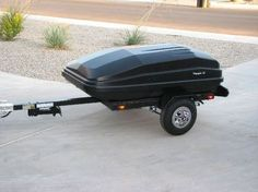 Auto Rooftop Cargo Boxes on a traier Motorcycle Cargo Trailer, Pull Behind Motorcycle Trailer, Pull Behind Trailer, Motorcycle Campers, Small Trailer, Trailer Build, Tow Trailer, Harley Davidson Forum, Harley Davidson Motorcycles