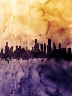Orrrr Possibly this one!!  Chicago Skyline Chicago Illinois Cityscape Art Print by artPause