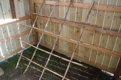 redneck chicken coop | ... down the road and I used it to make the roost in the chicken coop