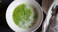 Elixir of Fresh Peas on Panna (video) - A brighter, lighter pea soup from the incomparable Deborah Madison. Cooking App, Just Cooking, Cooking Recipes, Fruit Recipes, Soup Recipes, Healthy Recipes, Weeknight Recipes, Vegetable Side Dishes, Soups