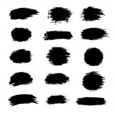Collection of black paint ink brush strokes Vector Image , Silhouette Curio, Silhouette Cameo Projects, Cricut Fonts, Cricut Vinyl, Vinil Cricut, Brush Stroke Vector, Acrylic Keychains, Keychain Design, Cricut Craft Room