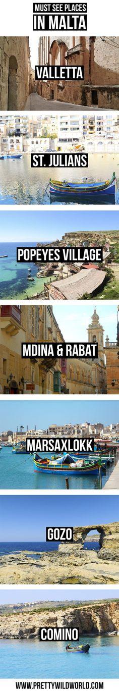 Things to do in Malta | Must see places in Malta | Valletta | St Julians | Paceville | Masaxlokk | Fishermans Village | Gozo Island | Comino Island | Blue Lagoon Malta | Mdina and Rabat