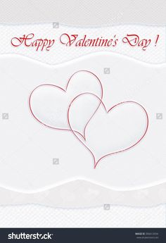 High resolution illustration of a Happy Valentines day gift card