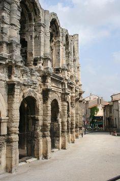 Amphithéâtre à Arles, Bouches du Rhône, Provence,  France