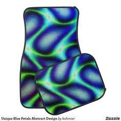 Unique Blue Petals Abstract Design Car Floor Mat Car Mats, Car Floor Mats, Christmas Card Holders, Keep It Cleaner, Initials, Flooring, Abstract, Unique, Blue