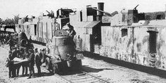 Armored train number 695 of BP-35 type (PR-35 + 2 x PL-37) supported by BA-20 and BA-10 armored cars/railcars. WW2 Rail-road armor