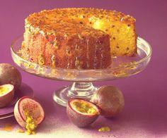 Receita de bolo vegano de grão de bico com calda de maracujá ⋆ Jardim do Mundo
