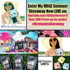 MY HUGE SUMMER GIVEAWAY 2014 IS NOW LIVE ON #GlitterForever17! CLICK HERE TO WATCH  ENTER NOW! https://www.youtube.com/watch?v=ByQvVDz-9vs WHO WILL BE THE FIRST TO ENTER TO WIN OVER 100 SUMMER GOODIES INCLUDING A KINDLE FIRE HD, POLAROID CAMERA, MAKEUP, JEWELRY, ACCESSORIES AND MORE!? ENTER #BrelandsGiveaway NOW! LIKE  SHARE THIS POST IF YOU WANT TO WIN!