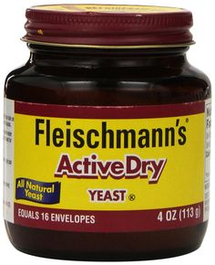Fleischmann's Yeast, ActiveDry 4 oz Jar - Use to make homemade bread or rolls.