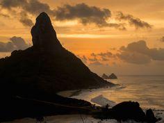 Morro do Pico at Sunset, Fernando de Noronha, Pernambuco, Brazil Design Pics / SuperStock
