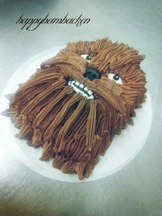 Chewbacca Star Wars Whisky Buttercream Cake www.facebook.com/happybeimbacken