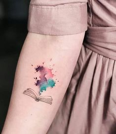 watercolor book tattoo ❤📖✨❤📖✨❤📖✨❤