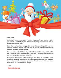 Letter from santa good to know pinterest santa printable santa letter example personalized letters from santa spiritdancerdesigns Images